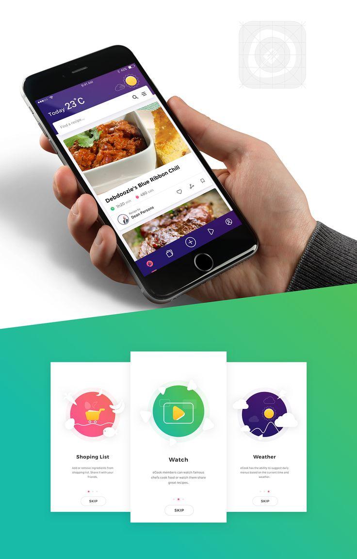 App | Ecook on Behance