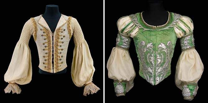 Rudolf Nureyev: A Life in Dance Costume by Nicholas Giorgiadis for Rudolf Nureyev in the role of Prince Florimond inSleeping Beauty, Teatro alla Scala, Milan, 1966 (left) and costume by Ezio Frigerio and Mauro Pagaono for Rudolf Nureyev in the role of Romeo, Romeo and Juliet, London Ballet Festival, 1977 (right). Collection CNCS/Rudolf Nureyev Foundation. Photographs by Pascal François/CNCS