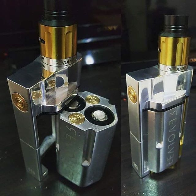 Revolver mod! So dope... tag a friend who vapes   Photo: @2vapedx