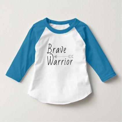 Brave Warrior T-Shirt - kids kid child gift idea diy personalize design