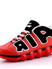 MasculinoConforto Inovador-Rasteiro-Preto Azul Verde Vermelho Branco Preto e Vermelho-Camurça Courino-Ar-Livre Casual Para Esporte