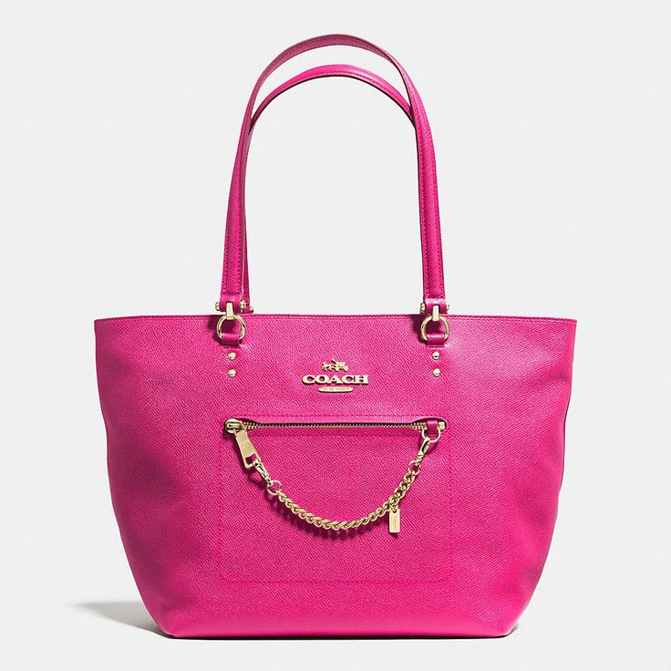 TOWN CAR TOTE IN CROSSGRAIN LEATHER #hotpink #coach #mystyle