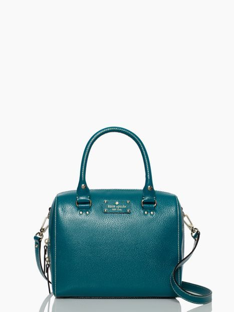 Kate Spade Wellesley Alessa - love the bag and love the slate blue, slightly green color.  My fall 2014 bag!