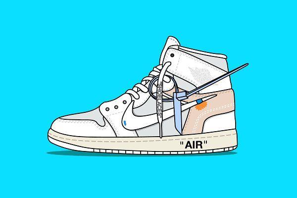 Nike X Off White Jordan White Illustrations Creative Market