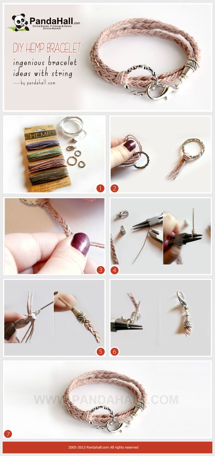 Today's Bracelet Ideas With String Are Mainly For The Friendship Fancier  This Diy Hemp Bracelet