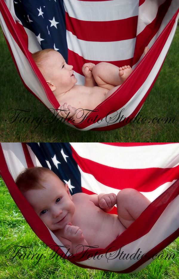 Baby in American Flag Hammock 4th of July 8 Months Old Independence Day Americana USA American Flag Portrait Poses | Photo Idea | Photography | Cute Kid Pic | Baby Pics | Posing Ideas | Kids | Children | Child | ~Bountiful Utah Photographer close to Salt Lake City | Ogden | Provo UT~