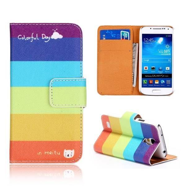 Regenboog kleurig booktype voor Samsung Galaxy S4 mini