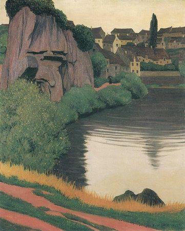 Landscape with Semur ~ Vallotton