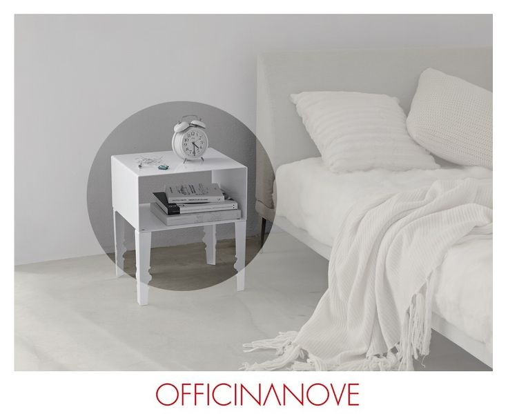NAPOLEON W by OFFICINANOVE: the side #table available also with chrome look legs or same #colour as top. Designer: Carlo Bargagna, dimensions: 42 X 35 X H 49 cm. Weight: 10,6 kg. http://bit.ly/1AkFjSJ #design #white #ambient #elegance #home