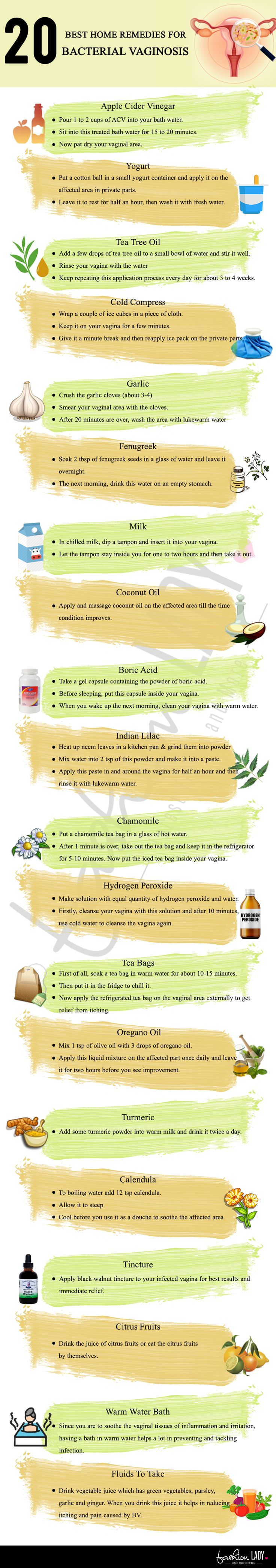 20 Best Home Remedies for Bacterial Vaginosis