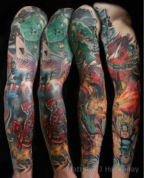 Epic Superhero Tattoo Designs - http://sicktattoos.org/epic-superhero-tattoo-designs/
