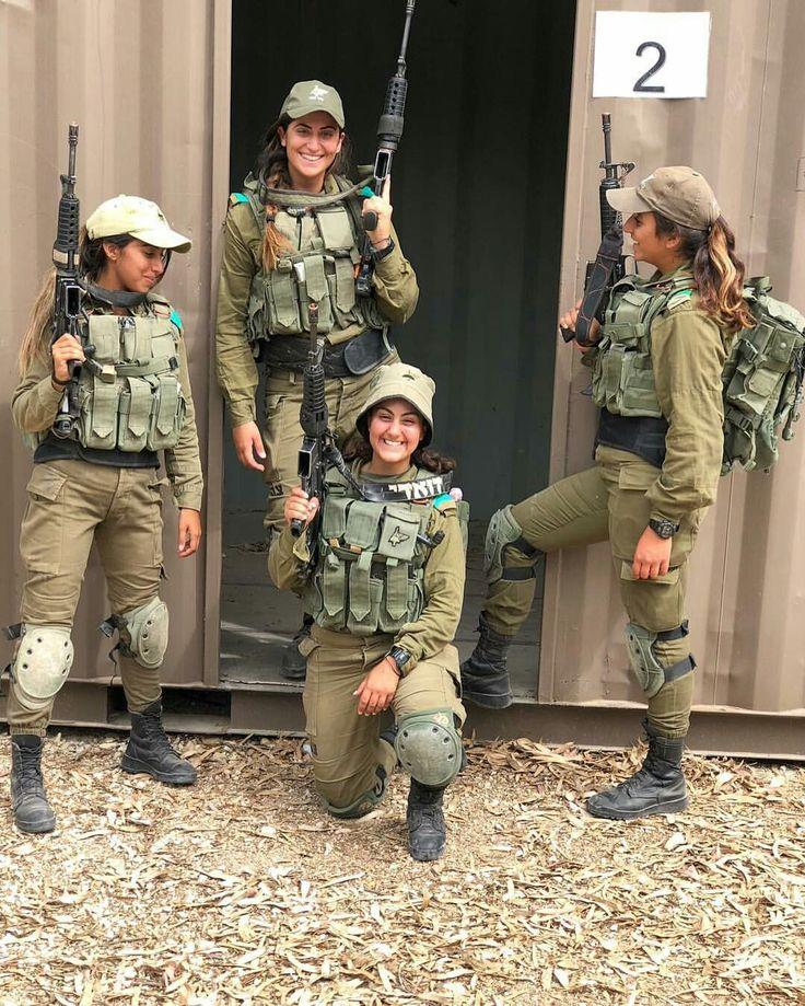 The gangs all here! | Military women, Military girl, Idf women