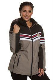 Plus Size Colorblock Winter Ski Jacket