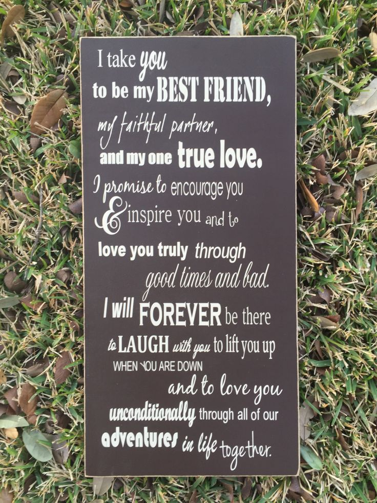 I Take You To Be My Best Friend Custom Wedding Vows Sign Anniversary Gift Here Comes The Bride Aisle Personalized