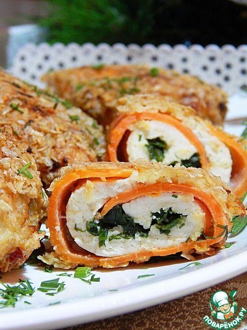 Аппетитные куриные рулетики в панировке - кулинарный рецепт