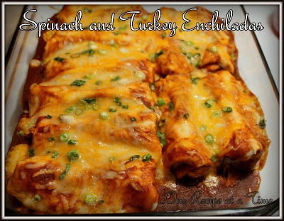 Spinach & Turkey Enchiladas from Learning the Ropes...One Recipe at a ...