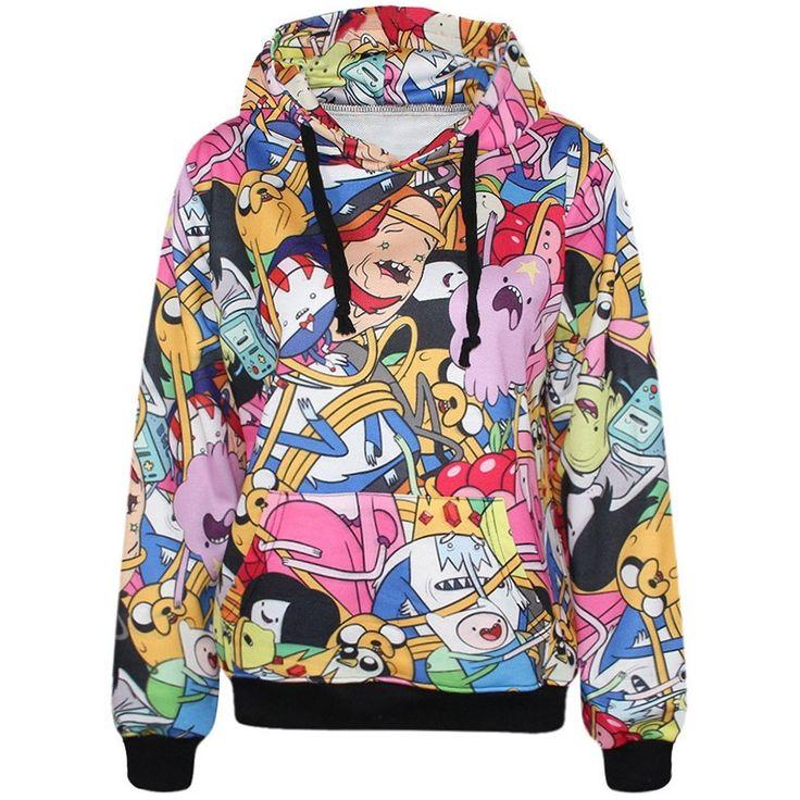 Long Sleeve Pocket Sweatshirts Casual Adventure Time Hoodies   #You #Thank #Sale