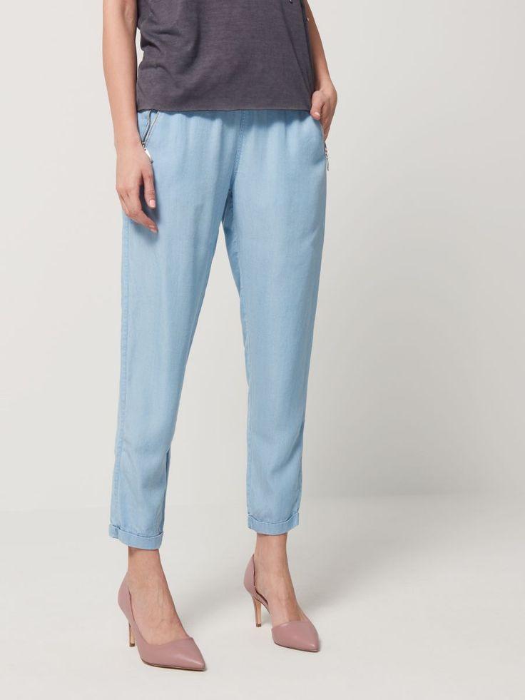Jeansowe spodnie w luźnym stylu, MOHITO, QJ825-50J
