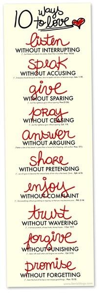 Ten ways to love.  <3