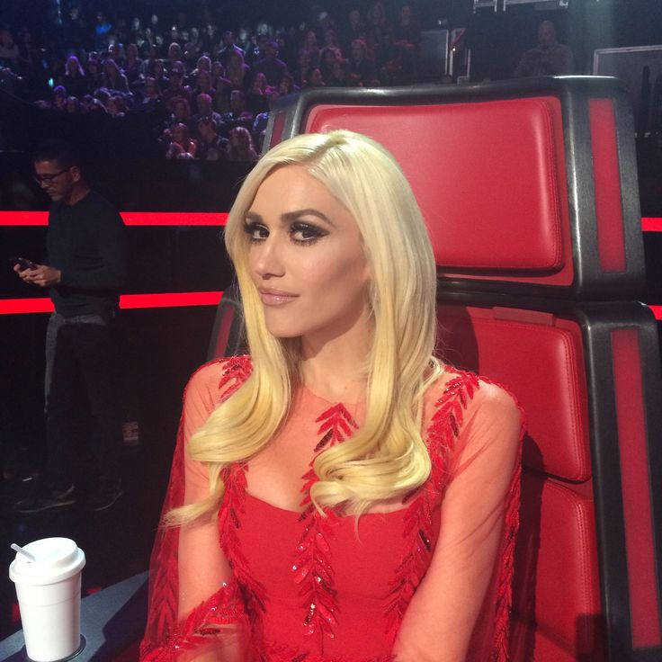 Gwen Stefani for The Voice. Makeup: Gregory Arlt. Hair: Danilo. Styling: Rob and Mariel.