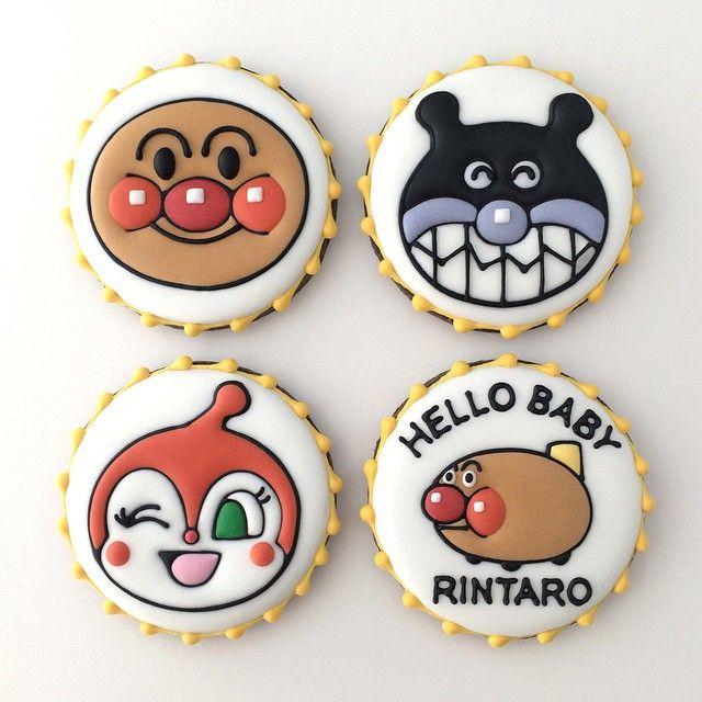 内祝い・出産祝いにピッタリのギフトアイテムですね。  #anpanman #アンパンマン #内祝い #出産祝い #クッキー #アイシングクッキー #cookie #cookies #decoratedcookie #decoratedcookies #sugarcookie #sugarcookies #icingcookie #icingcookies