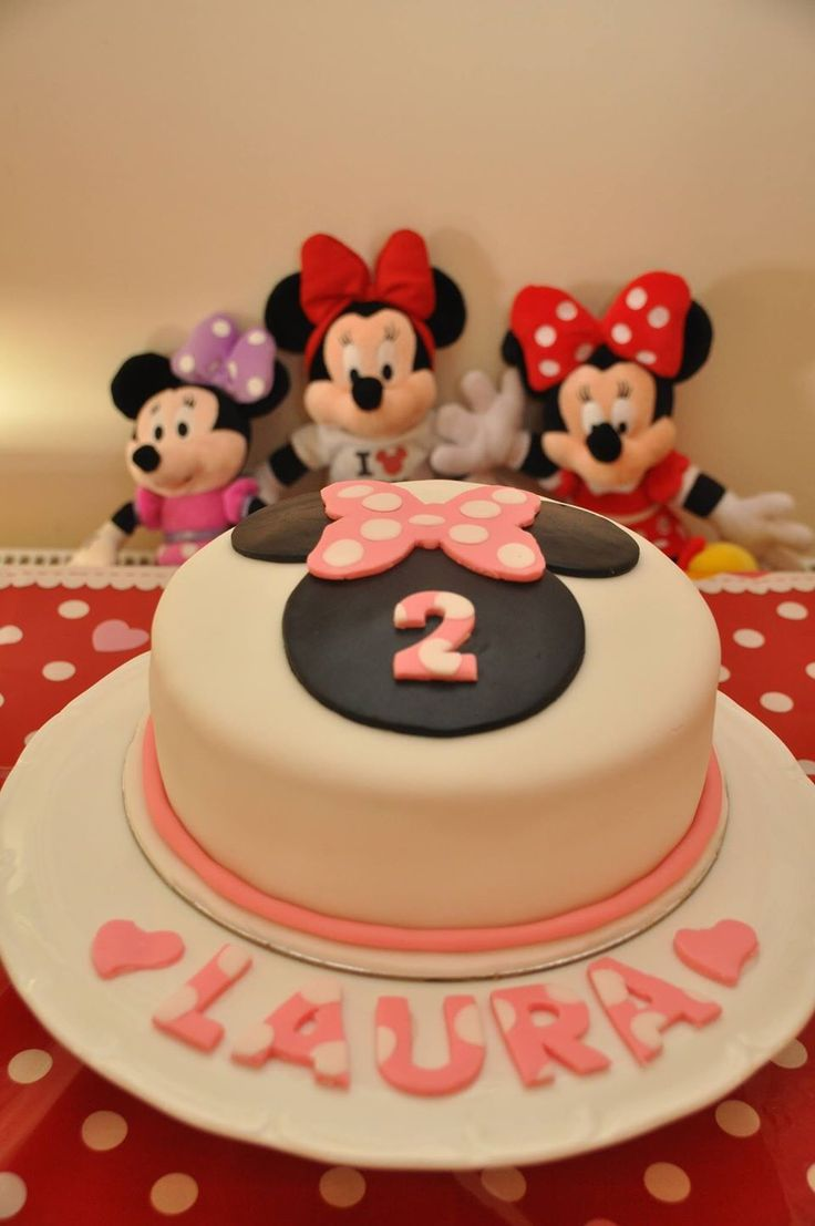 Minnie Mouse cake. Laura's 2nd birthday.