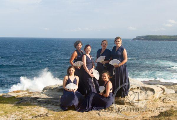 Tara & Pauls Sydney Wedding Love the navy blue dresses #weddingphotography #weddingsaustralia #weddingphotographers