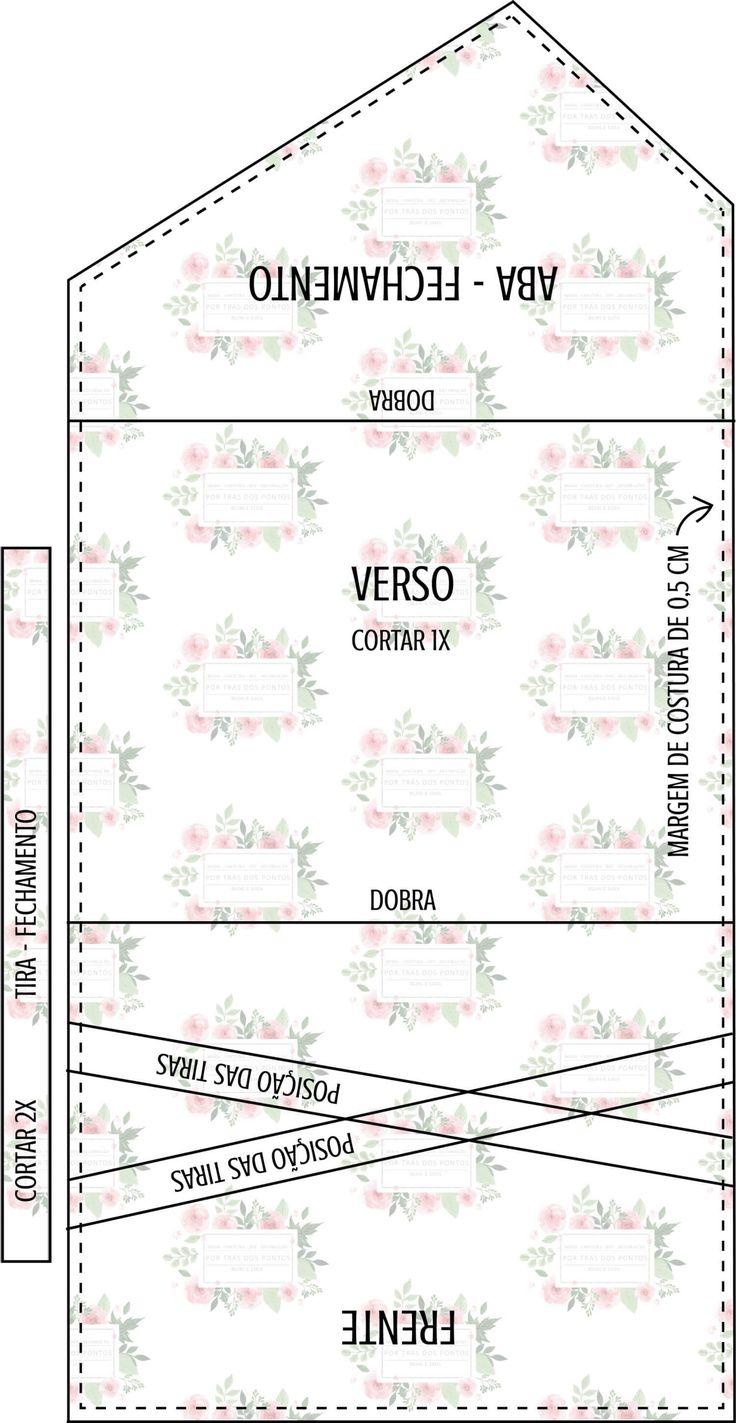 DIY Bolsa Envelope + Molde p/ Imprimir - Por Trás dos Pontos
