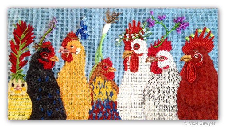 These stitches are perfect, Vicki Sawyer Design