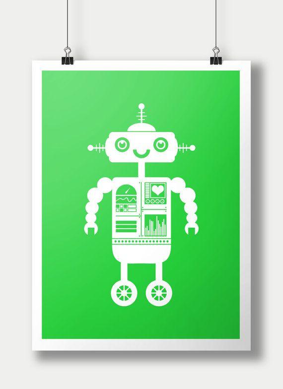 33 best chunky rocket designs images on pinterest kid for Robot room decor