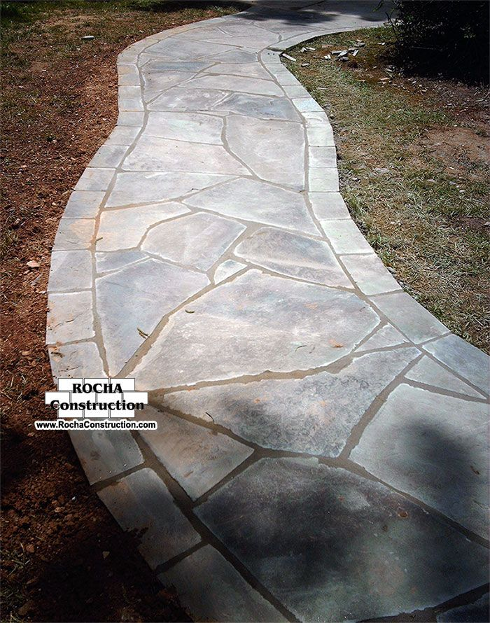 flagstone walkways | Flagstone Walkway on Stone Dust or Cr6: