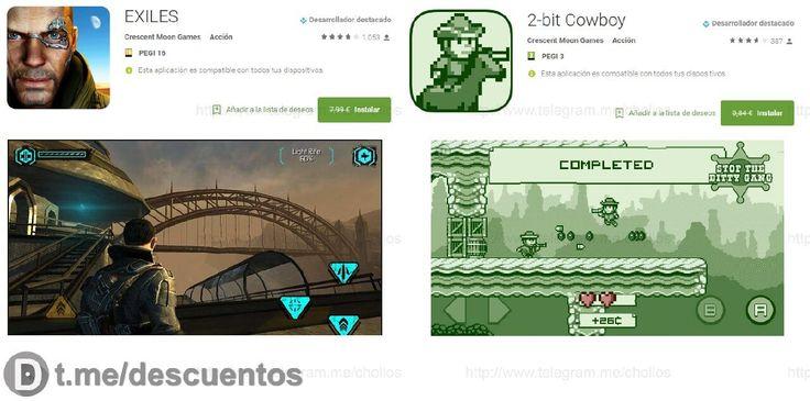 Videojuegos EXILES y 2- bit Cowboy para Android GRATIS - http://ift.tt/2mILXPp