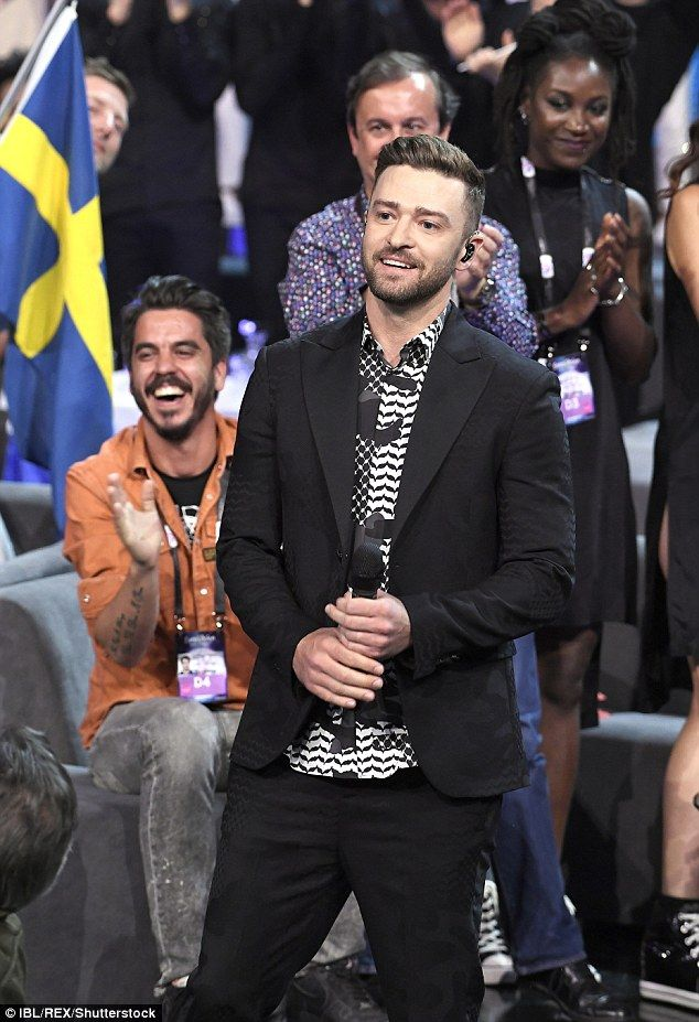 Justin Timberlake takes Eurovision by storm with Can't Stop The Feeling performance | Daily Mail Online