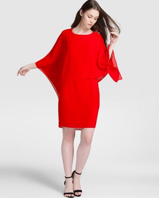 Vestido de fiesta rojo de mujer Antea