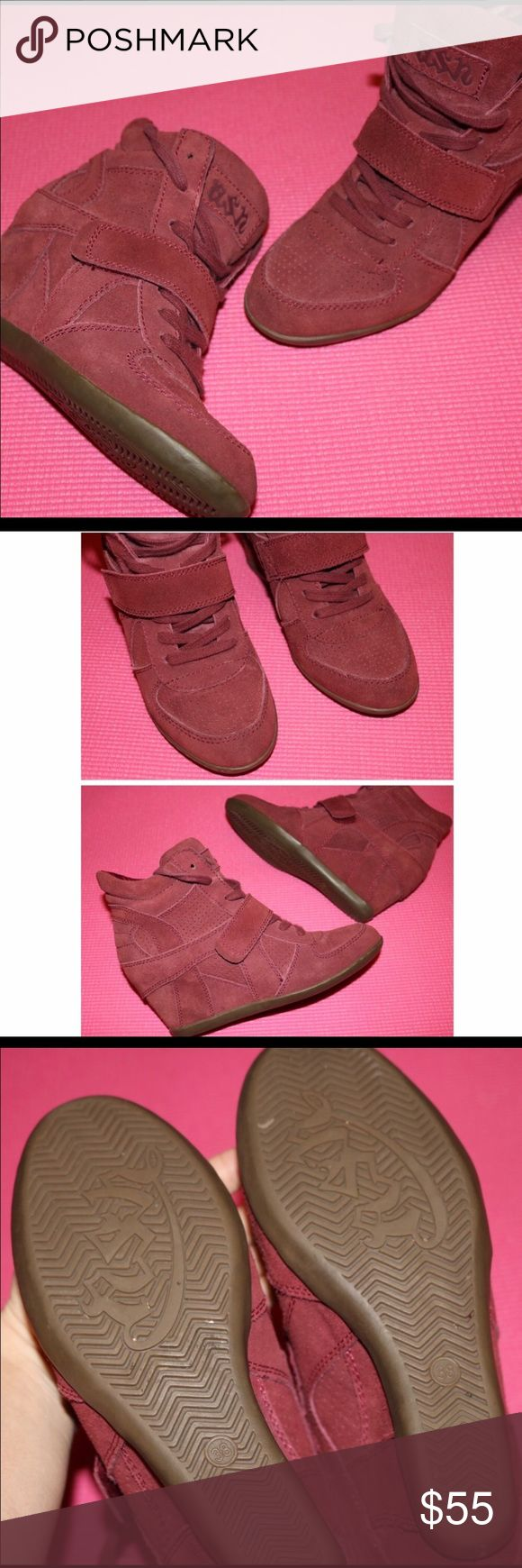 ASH RED WEDGE SNEAKERS 38 ASH RED WEDGE SNEAKERS 38- VERY MINOR signs of wear. Ash Shoes Sneakers