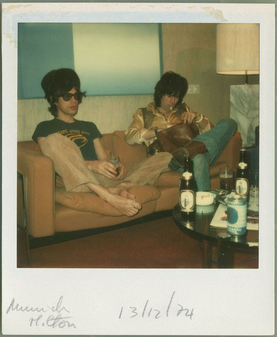 """Mick and Keith """"Nous étions à Munich pour une interview en Allemagne avec le grand reporter et réalisateur français Freddy Hausser. On me dit toujours 'ell..."""