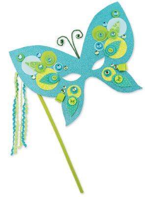 Crafter's Café Butterfly Mask - love the idea but I will need to modify