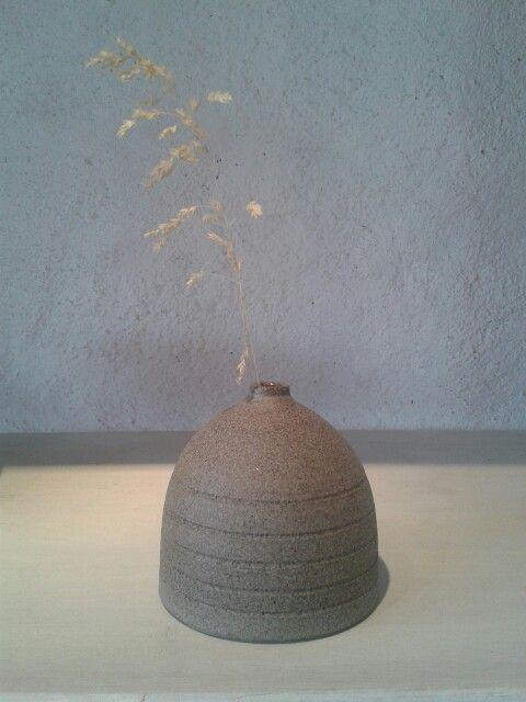 Lava clay bud vase