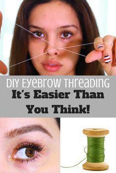 DIY Eyebrow Threading! It's Easier Than You Thin