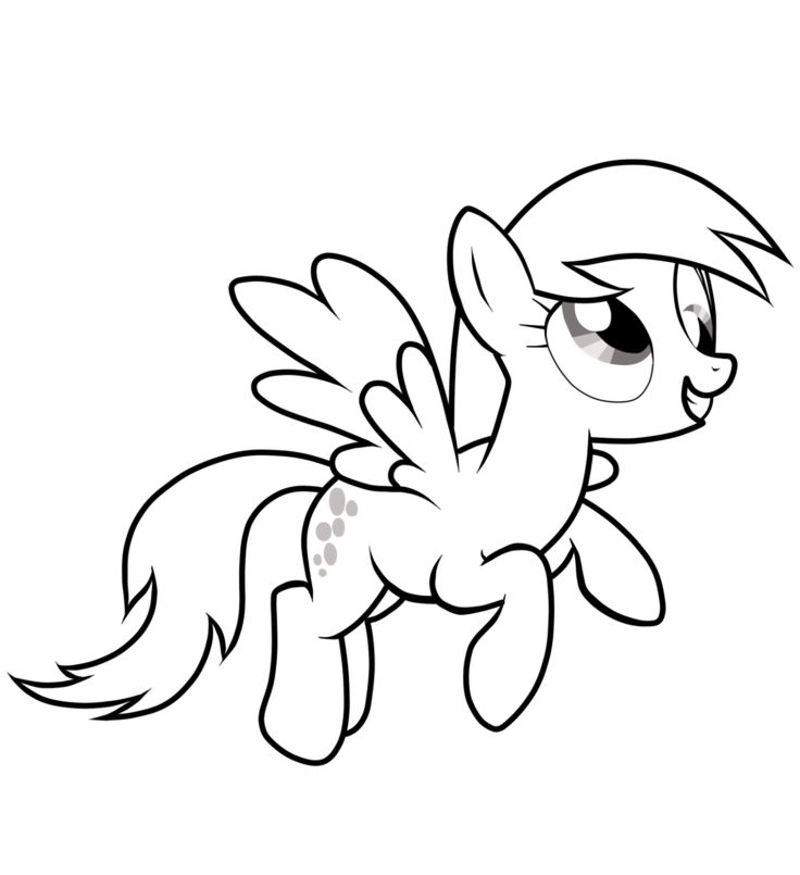My Little Pony Derpy Hooves Coloring Pages : Best images about coloring kids my little pony on