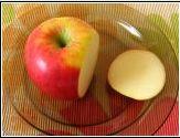 Arte de esculpir frutas e legumes: Pássaro de maça