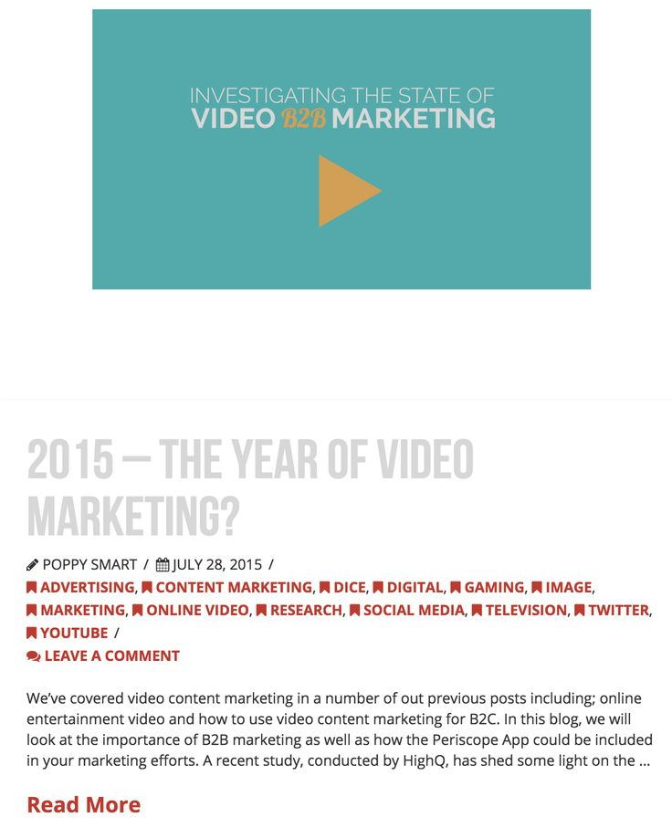2015 - The Year of Video Marketing? - 28/7/15 - www.dicelondon.com/2015-the-year-of-video-marketing/