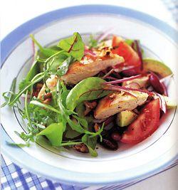 Chicken, Walnut and Red Bean Salad