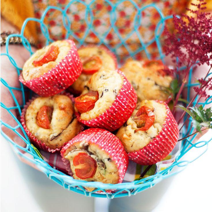 Svampmuffins med Västerbottensost & timjan