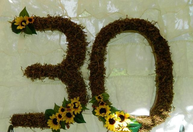Backdrop at a Sunflower birthday party #sunflower #partybackdrop