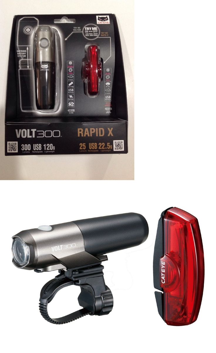 Lights and Reflectors 22689: Cateye Volt 300 Bike Headlight And Rapid X Tail Light Combo Set -> BUY IT NOW ONLY: $53.95 on eBay!