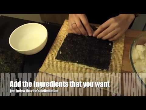 How to make easily tempura - fried sushi !