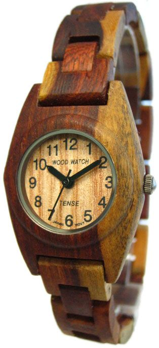 Tense Wooden Watches: Unique time-pieces made in Canada : Women's Dual-tone Sandalwood Bracelet [L8109I] - $135.00USD