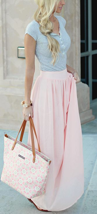 Yummy flow-y skirt. I like the style where the front is higher, though.