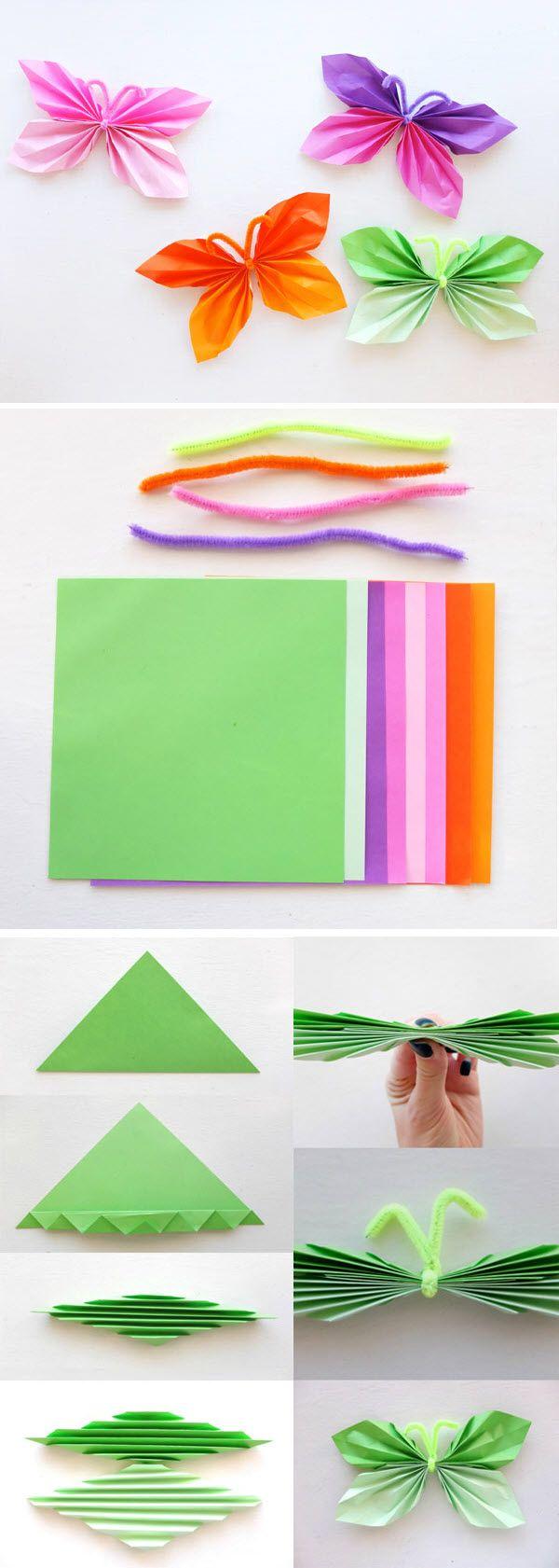papillons décoratifs papier